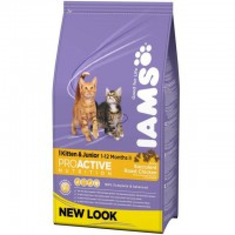 Iams Kitten & Junior Chicken Корм для котят с курицей 10 кг