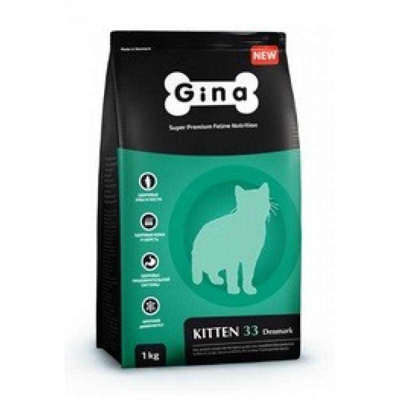 Gina Denmark Kitten 33 Корм для котят, беременных и кормящих кошек 18 кг