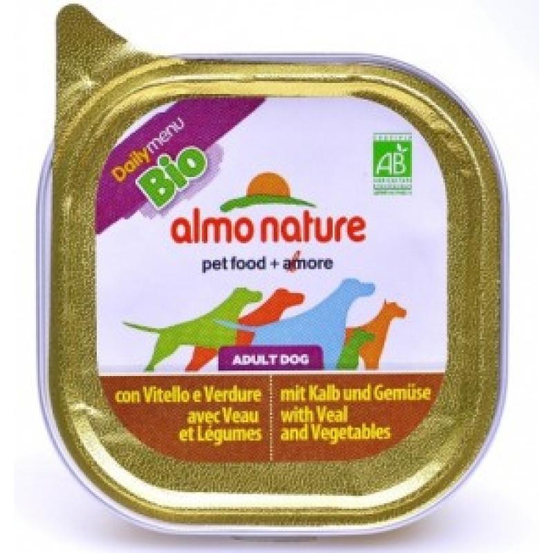 Almo Nature Dailymenu Паштет для собак с телятиной и овощами, ламистер