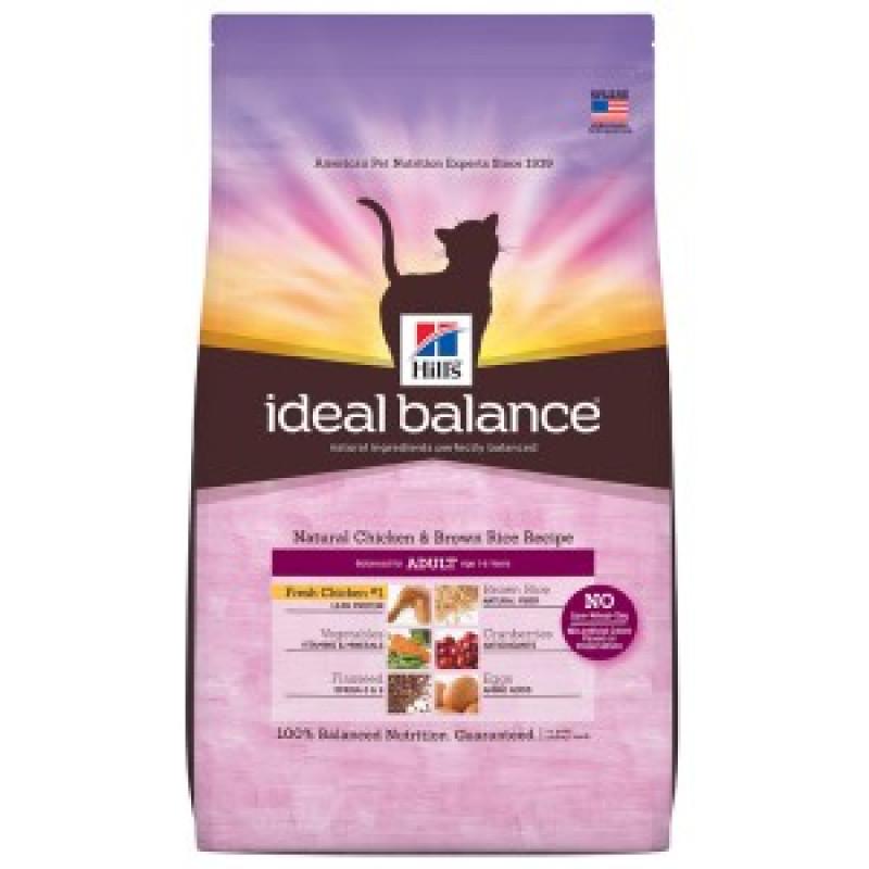 Hill*s  Ideal Balance Feline Adult Chicken & Brown Rice Беззерновой корм для взрослых кошек с Курицей и рисом