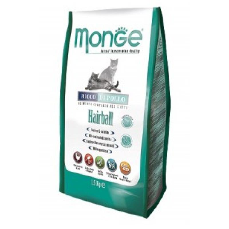 Monge Cat Hairball  Сухой корм для кошек для выведения волосяных комочков 400 г