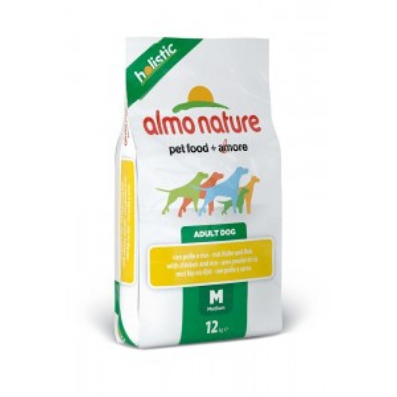 Almo Nature Holistic Сухой корм для взрослых собак средних пород с курицей 2кг