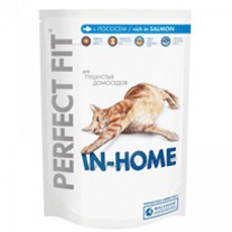 Perfect Fit In-Home Корм для домашних кошек с лососем 650 г