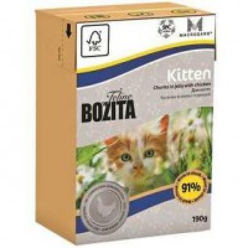 Bozita Mini Funktion Kitten кусочки Курицы в желе для котят и беременных кошек 190г