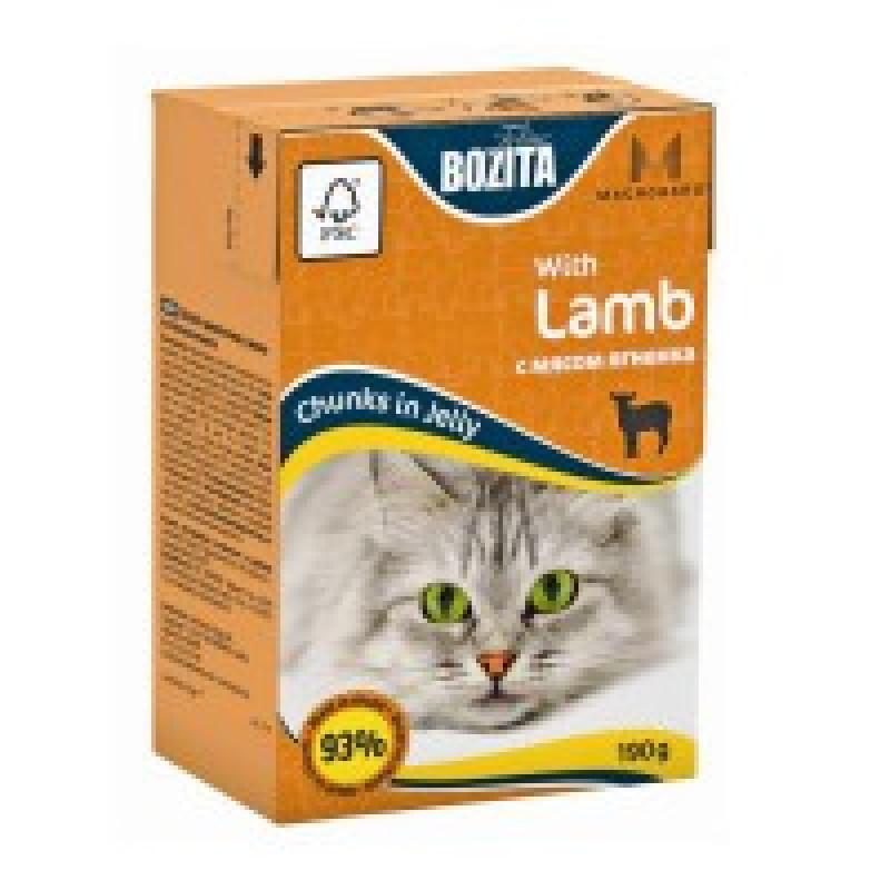 Bozita Mini Lamb Кусочки в желе с мясом ягненка для кошек 190г