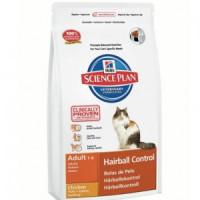 Hill*s Science Plan Feline Hairball Control Formula Сухой корм для взрослых кошек для выведения шерсти из желудка