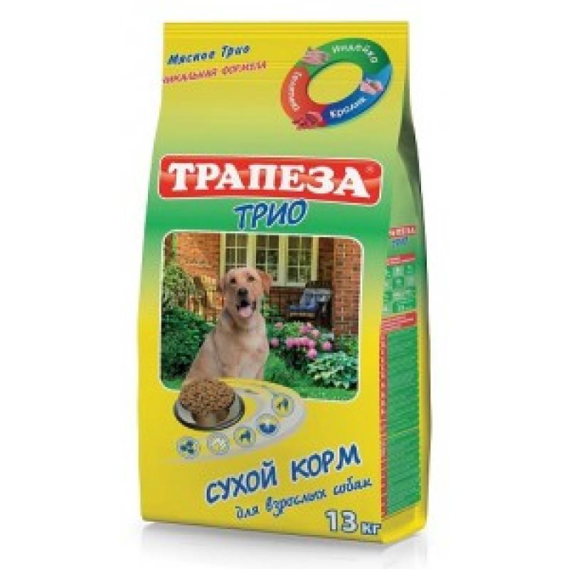 Трапеза ТРИО Сухой корм для собак Индейка, Кролик, Телятина 13кг