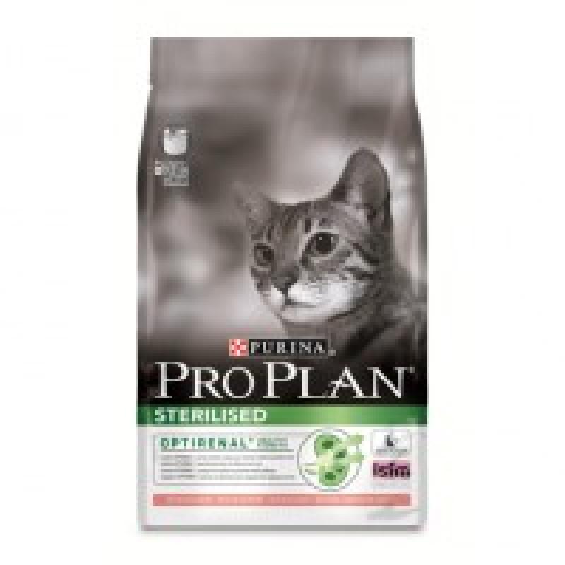 Pro Plan Sterilized Salmon Корм сухой для стерилизованных и кастрированных кошек, лосось и тунец 3кг