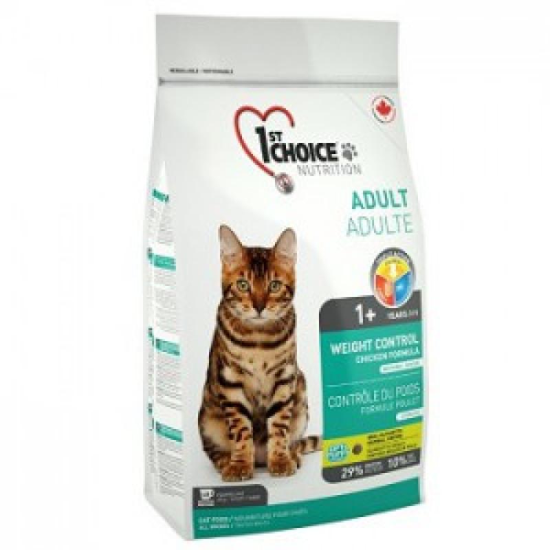 1st Choice Weight Control Корм для кастрированных котов и стерилизованных кошек Контроль Веса, курица