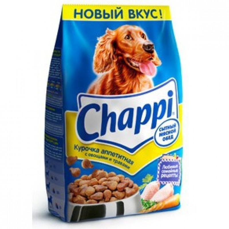 Chappi Аппетитная Курочка Корм для взрослых собак всех пород с курицей