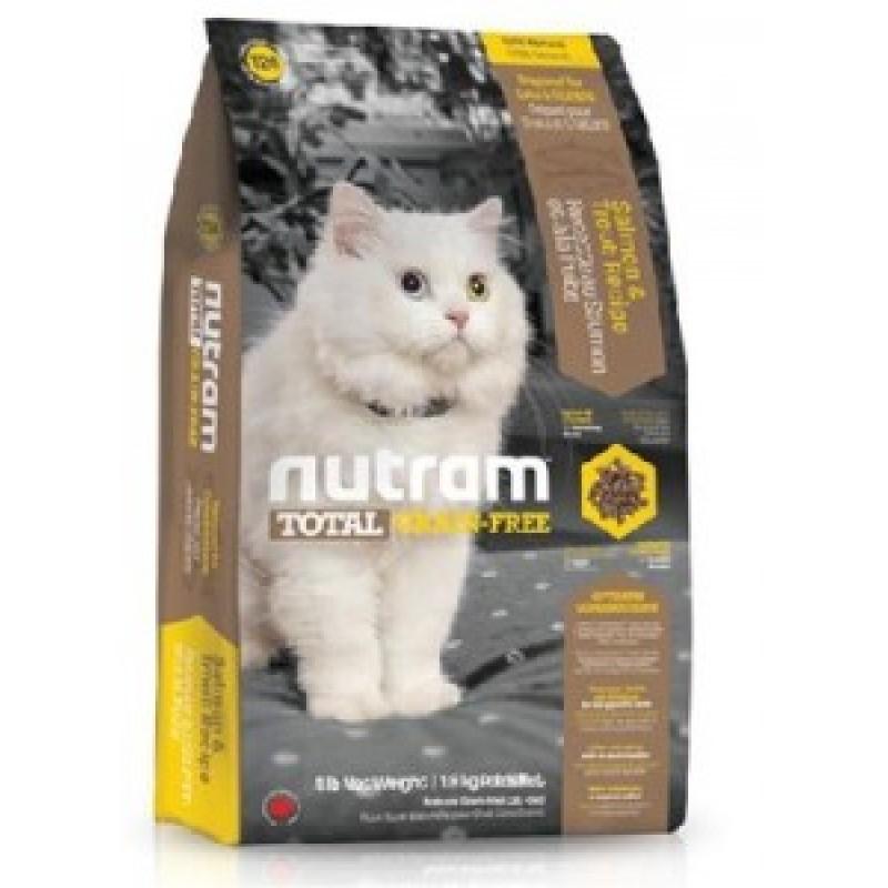 Nutram GF Cat Salmon&Troot  Беззерновой корм для кошек Лосось, форель 1,8 кг