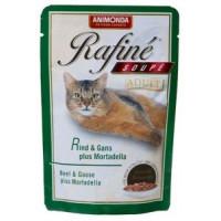 Animonda Rafine Soupe Adult Паучи для кошек коктейль из говядины, мяса гуся и яблок