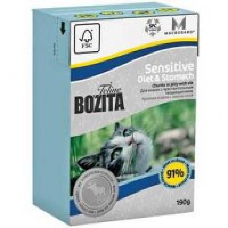 Bozita Mini Funktion Sensitive Diet&Stomach кусочки Лося в желе для кошек с чувствительным пищеварением 190г