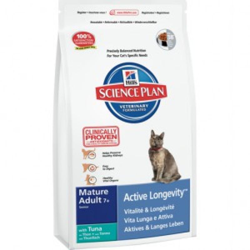 Hill*s Science Plan Feline Mature Tuna Сухой корм для кошек старше 7 лет с тунцом