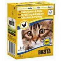Bozita Chicken&Turkey Cat Кусочки в соусе с курицей и индейкой для кошек