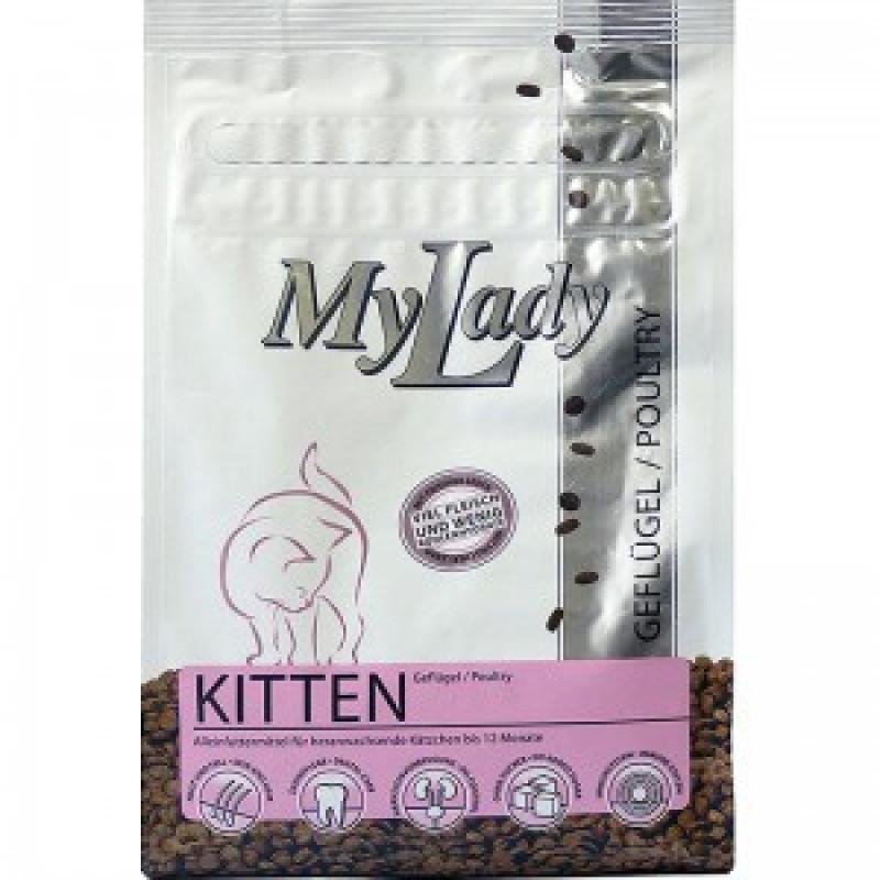 Dr.Alders My Lady Premium Kitten Сухой корм для котят, беременных и кормящих кошек, Птица и печень 400 г