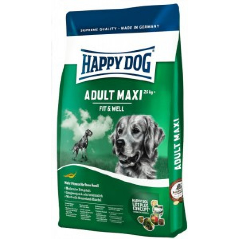 Happy Dog Supreme Fit Well Adult Maxi Корм для собак крупных пород 15кг