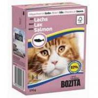 Bozita Salmon Cat Кусочки в соусе с лососем для кошек 370г