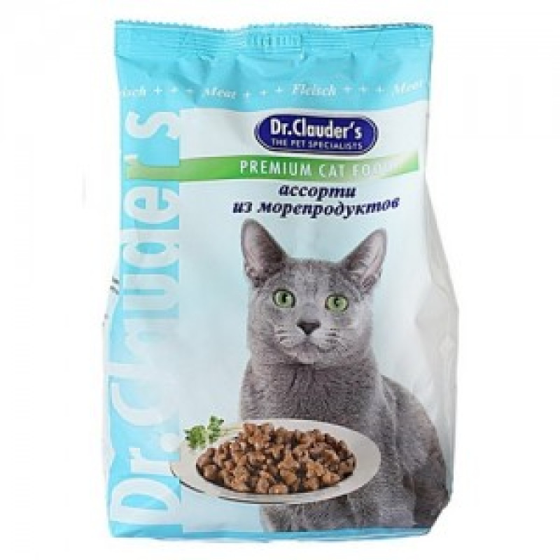 DrClauders Ассорти из Морепродуктов Корм для кошек, ассорти из морепродуктов