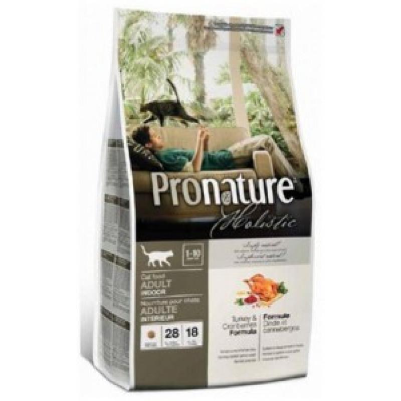 Pronature Holistic  Сухой корм для кошек Индейка с клюквой 2,72кг