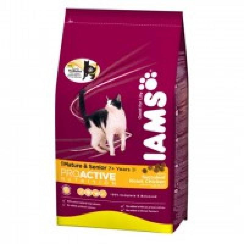 Iams Mature & Senior Chicken Корм для кошек старше 8 лет 2,55 кг