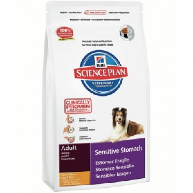 Hill`s Adult Sensitive Stomach Корм для собак с чувствительным пищеваринием 12кг