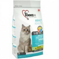 1st Choice Здоровая кожа и шерсть Корм сухой для взрослых кошек с лососем