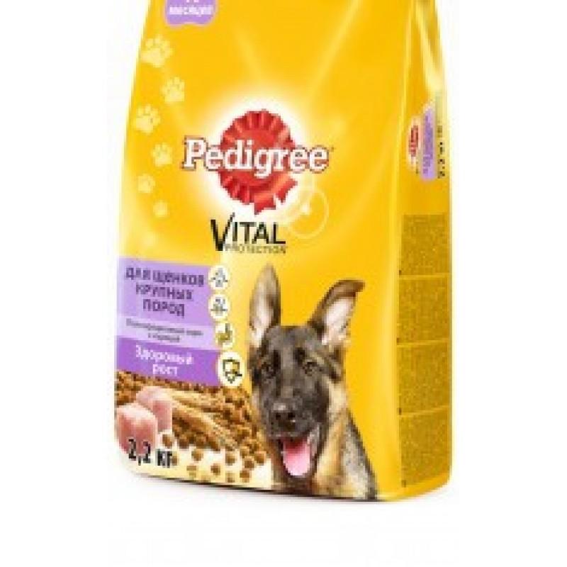 Pedigree Junior Vital Сухой корм для щенков крупных пород с 6 месяцев с курицей