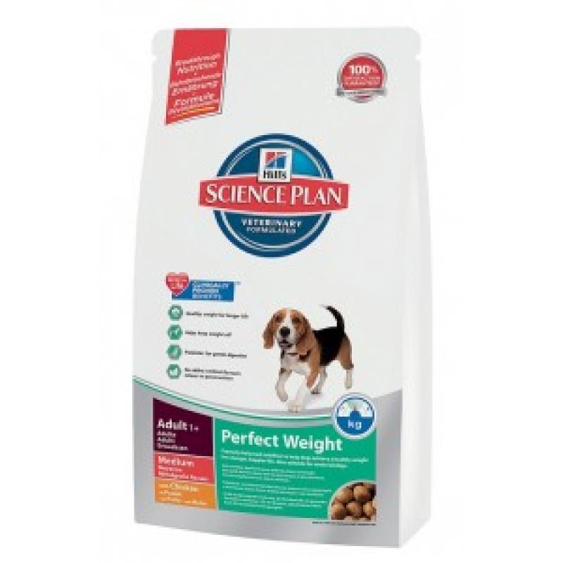 Hill`s Science Plan Canine Adult Perfect Weight Medium Сухой корм для собак средних пород склонных к полноте
