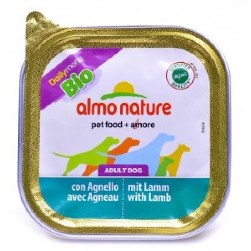 Almo Nature Dailymenu Паштет для собак с ягненком, ламистер