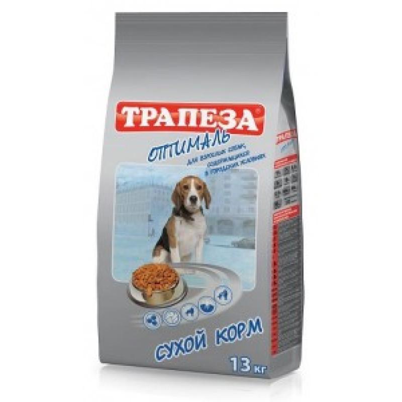 Трапеза Оптималь Корм для взрослых собак