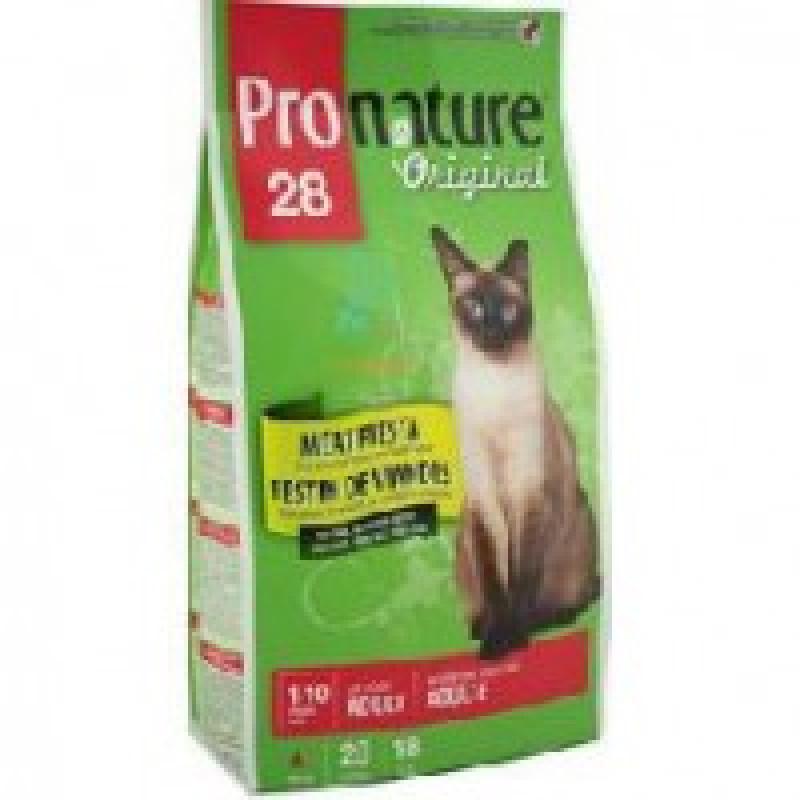 Pronature Original 28 Мясной праздник Корм для кошек (цыпленок, лосось, ягненок) 2,72 кг