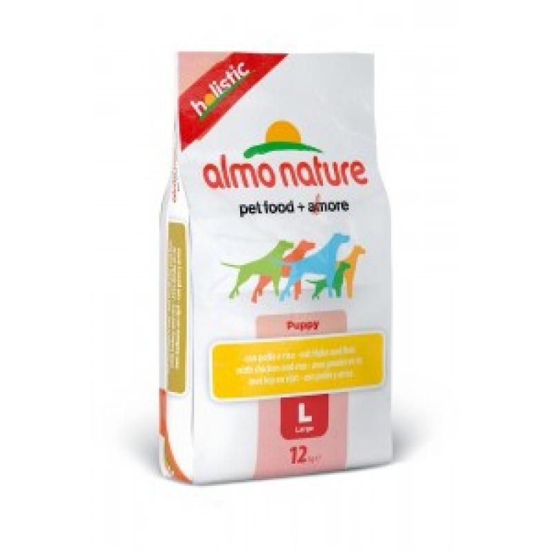 Almo Nature Holistic Сухой корм для щенков крупных пород с курицей