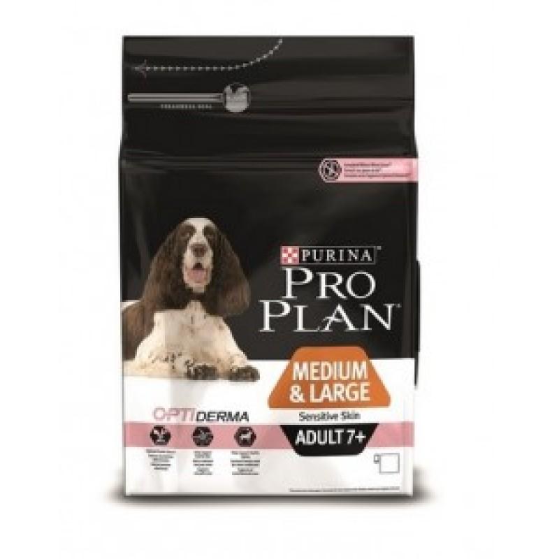 14кг Pro Plan Senior Sensitive Skin Сухой корм для пожилых собак с чувствительной кожей, Лосось с рисом