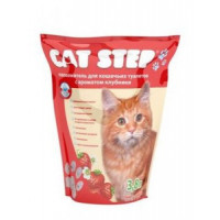 Cat Step Наполнитель силикагелевый с ароматом Клубники