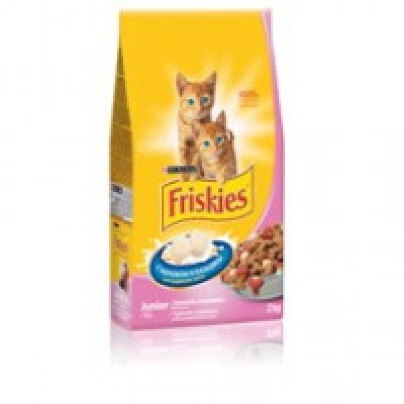 Friskies Юниор Корм сухой для котят с курицей, морковью и молоком