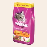 Whiskas Подушечки с Паштетом из Курицы Корм для кошек из курицы, индейки 1,9 кг