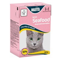 Bozita Mini Seafood Кусочки в соусе Морской коктейль для кошек 190