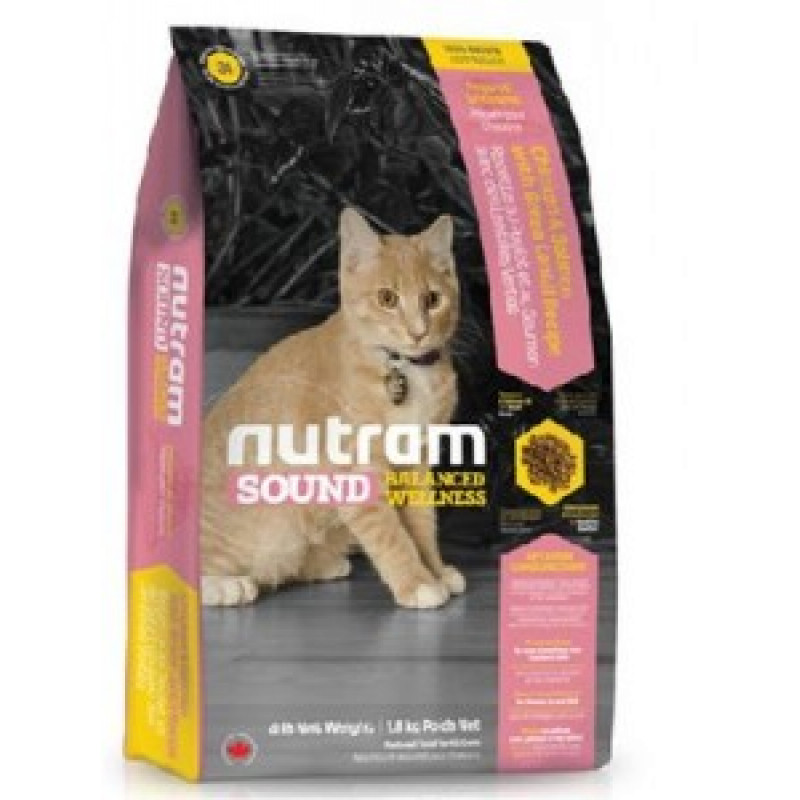 Nutram Sound Balanced Wellness Kitten Food  Сухой корм для котят с Курицей и лососем 1,8 кг