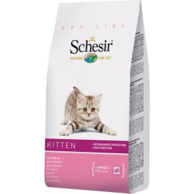 Schesir Kitten Сухой корм для котят с курицей 1,5 кг