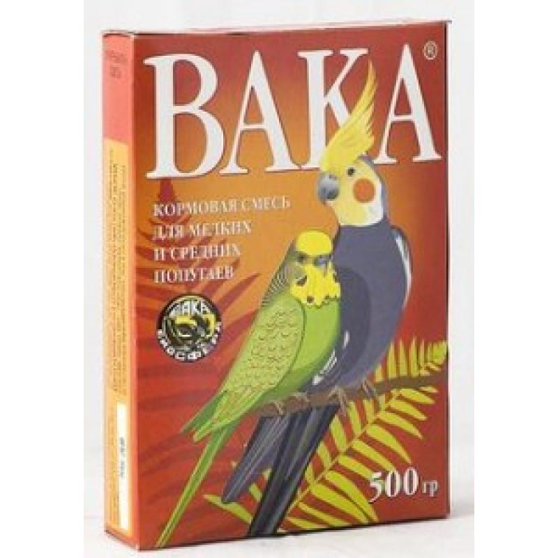 Вака ВК Корм для мелких и средних волнистых попугаев