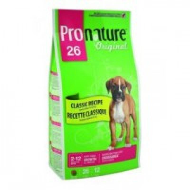 Pronature Original 26 Puppy All Breed Lamb+Rice Корм для щенков всех пород на основе мяса ягненка, формула роста