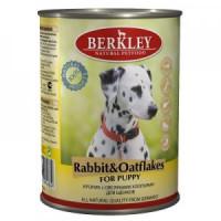Беркли Консервы для щенков Кролик с овсяными хлопьями 400г