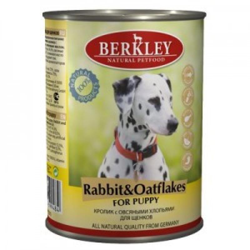 Беркли Консервы для щенков Кролик с овсяными хлопьями