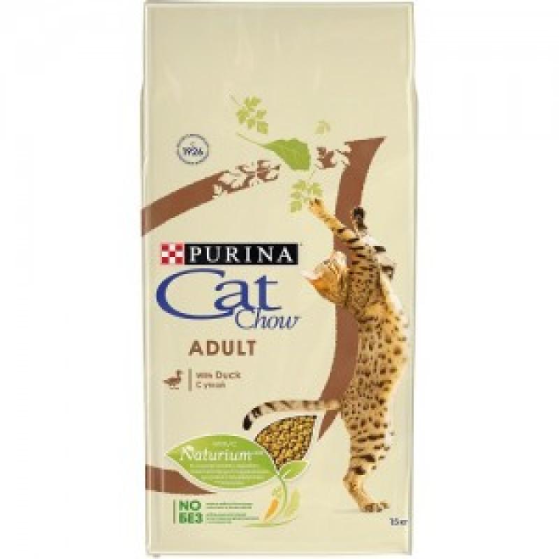 Cat Chow Adult Duck Сухой корм для взрослых кошек с Уткой
