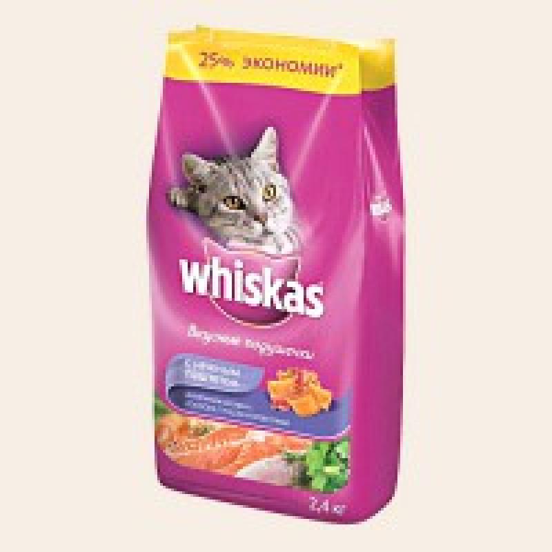 Whiskas Подушечки с Паштетом из Лосося Корм для кошек из лосося 1,9 кг