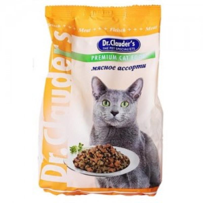 DrClauders Мясное Ассорти Корм для кошек, мясное ассорти