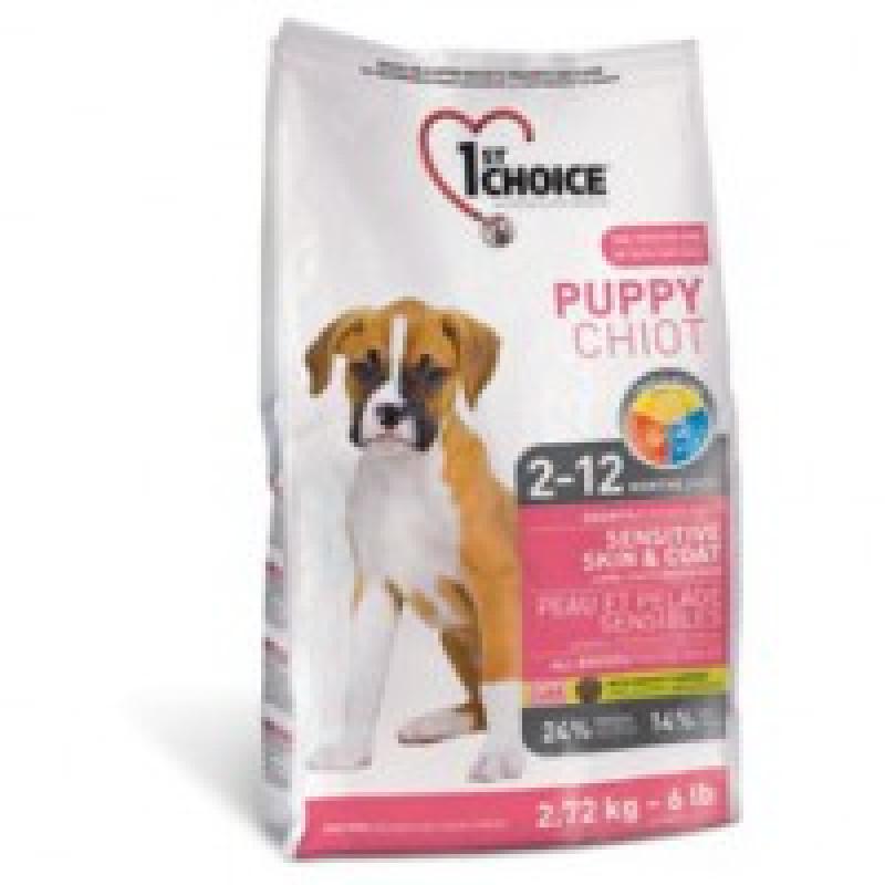 1st Choice Puppy Sensitive Skin Coat Корм для щенков с чувствительной кожей и для шерсти, ягненок+рыба+рис