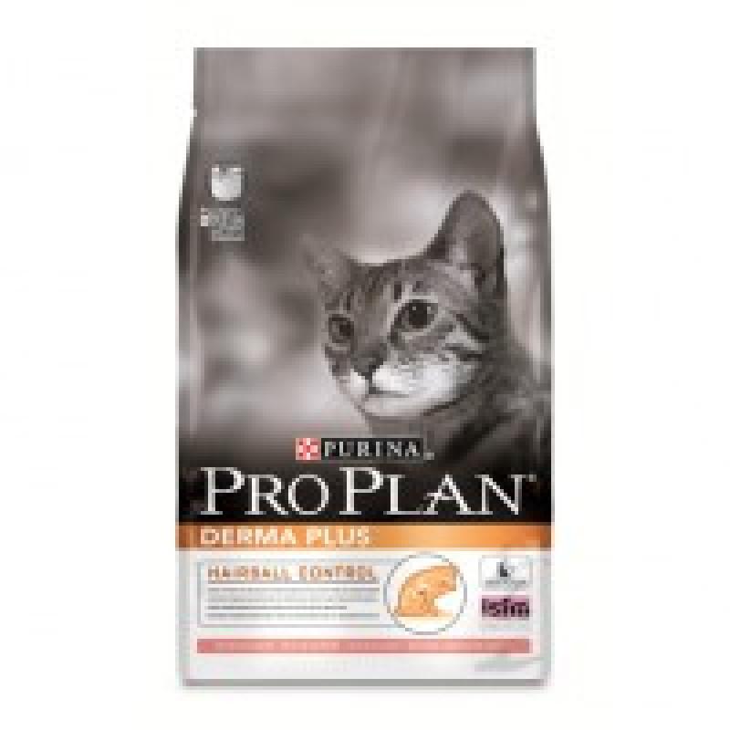 Pro Plan Derma Plus Корм сухой для кошек с проблемной кожей и шерстью, лосось