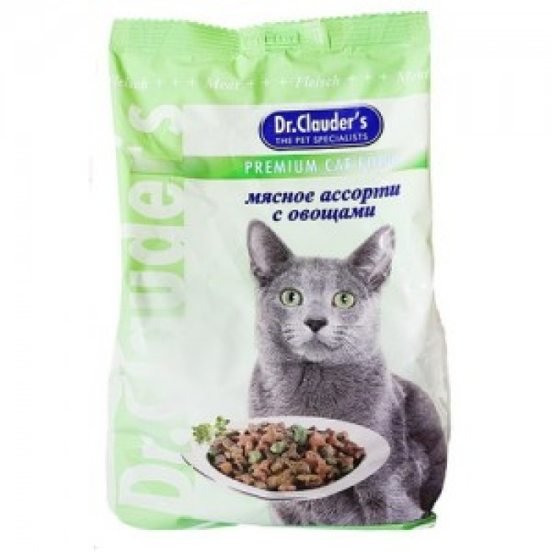 DrClauders Мясное Ассорти с Овощами Корм для кошек, мясное ассорти с овощами